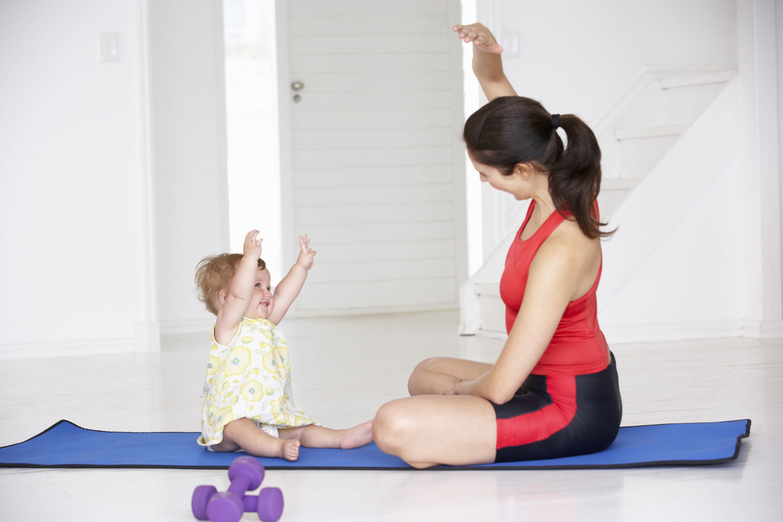 Утренняя зарядка с ребенком